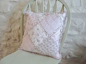 Floral Patchwork Style Shabby Chic Cushion - cushions