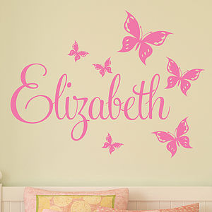 Personalised Butterfly Wall Sticker - birthday gifts for children