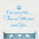 Personalised Once Upon A Time Wall Stickers