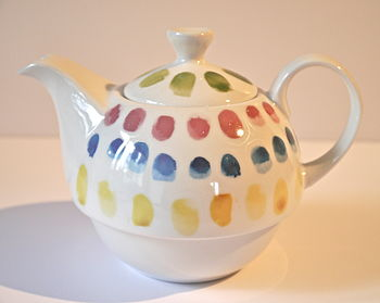 Ceramic Teapot With Spotty Design