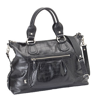Iguana Leather Slouch Tote Baby Changing Bag
