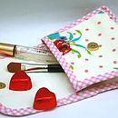 Cosmetic Case Vintage Inspired Oilcloth