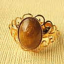Gold And Brown Stone Ring