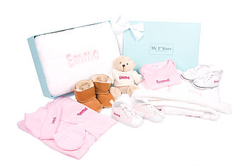 Girl's Newborn 12 Piece Baby Gift Set