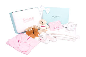 Girl's Newborn 12 Piece Baby Gift Set - beauty & pampering