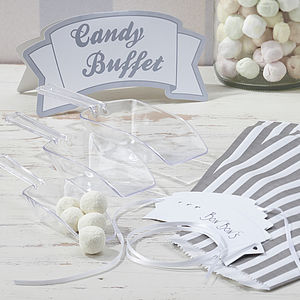 Candy Bar Kit With Scoops, Bags, Sign & Tags - on trend: yellow & grey
