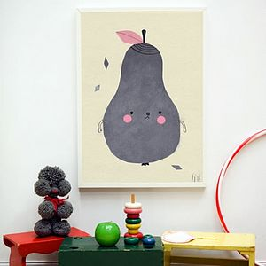 Pirum Parum Pear Print - children's pictures & paintings
