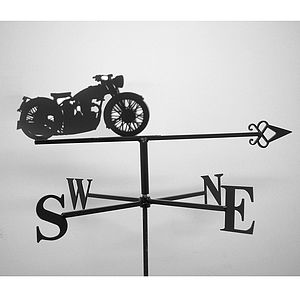 Vintage Motorbike Weathervane - art & decorations