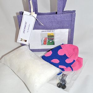 Sock Bunny Sewing Craft Kit - creative kits & experiences