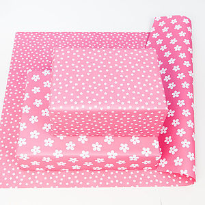 Flower Double Sided Wrapping Paper - ribbon & wrap