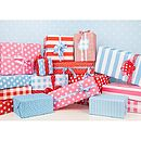 dots and spots gift wrap