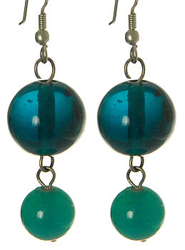 Rajha Teal Drop Earrings