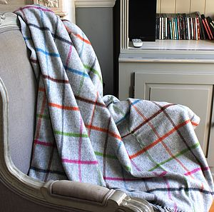 Merino Classical Window Pane Throw