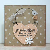 'Grandmothers Like You' Card And Keepsake - mother's day