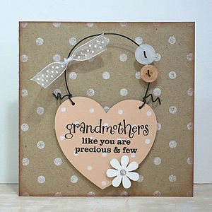 'Grandmothers Like You' Card And Keepsake - handmade cards