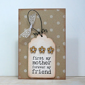 'Mother, Forever My Friend' Card And Keepsake - cards