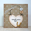 'Mr And Mrs Card' And Keepsake