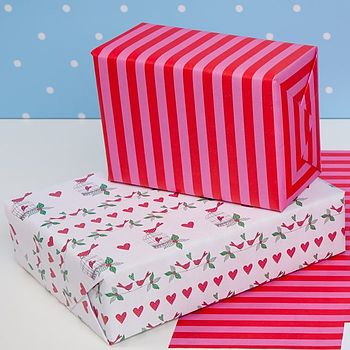 Lovebirds Double Sided Wrapping Paper
