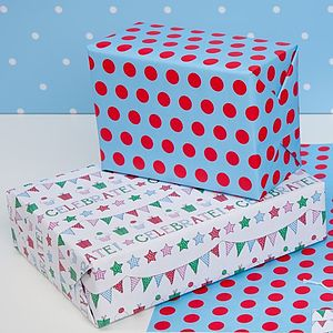 Birthday Double Sided Wrapping Paper - winter sale