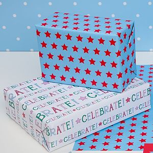 Celebrate Double Sided Wrapping Paper - winter sale