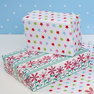 Spring Flower Double Sided Wrapping Paper - ribbon & wrap