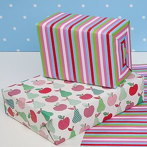 Apples And Pears Double Sided Wrapping Paper - winter sale