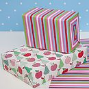 Apples And Pears Double Sided Wrapping Paper