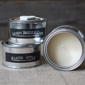 Scented Candle In Tin - candles & candlesticks