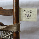'Mr And Mrs' Paper Flag