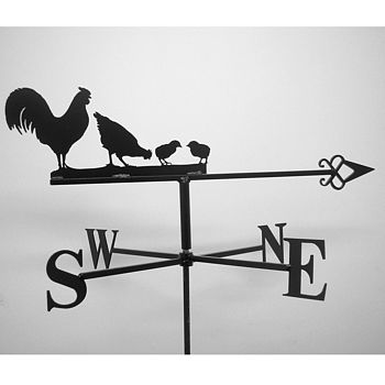 Cockerel Hen And Chicks Weathervane