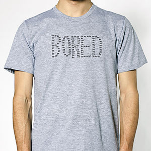 Hand Printed 'Bored' T Shirt - t-shirts, tops & tunics