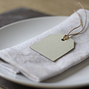 Six Small Luggage Tags - table decorations