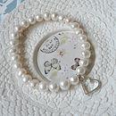 Hanging Heart Pearl Bracelet