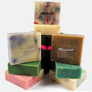 Stack Of Three Hand Made Soaps - bath & body