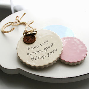 Personalised New Baby Ceramic Keepsake - baby & child