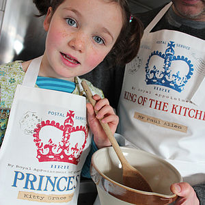 Personalised Princess Or Prince Childrens Apron - aprons