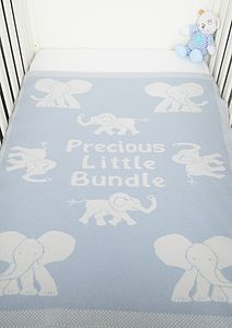 'Precious Little Bundle' Boy's Blanket - baby care