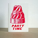 'Party Time' Greeting Card