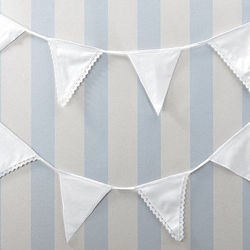 Vintage Inspired Lace Cotton Bunting