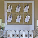 Wooden Table Plan With Clips
