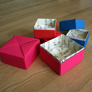 Sheet Music Trinket Box - gift bags & boxes