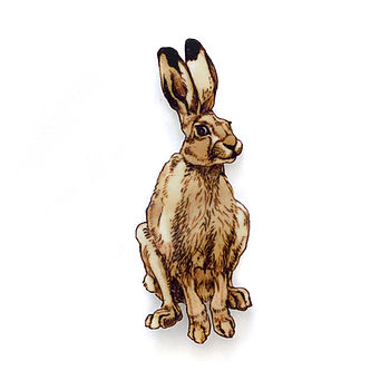 Woodland Hare Brooch