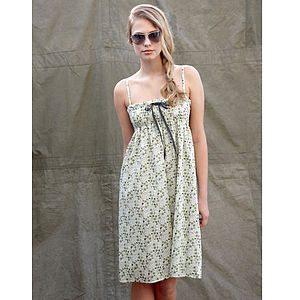 Women's Floral Liberty Cotton Sundress - dresses