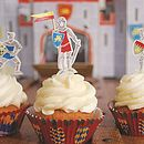 Knights And Dragons Cupcake Kit With Toppers