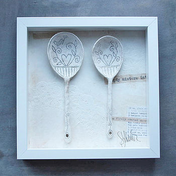 Vintage background, plain spoons