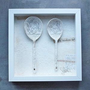 Framed Ceramic Spoons