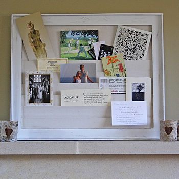 Wooden Notice Board With Pockets