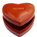 Romantic Red Heart Shaped Leather Box