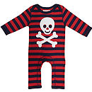 Organic Pirate Applique Sleepsuit