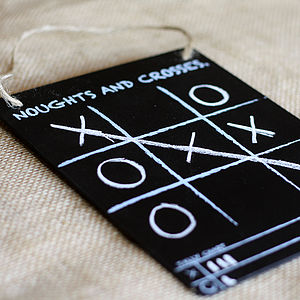 Noughts And Crosses Blackboard Game - wedding day activities